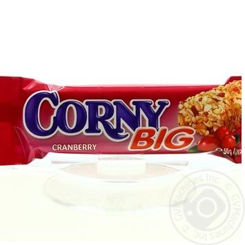 Батончик злаковий Corny Big з журавлиною 50г*24