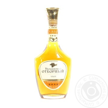 Cognac Ukrainian 40% 500ml glass bottle