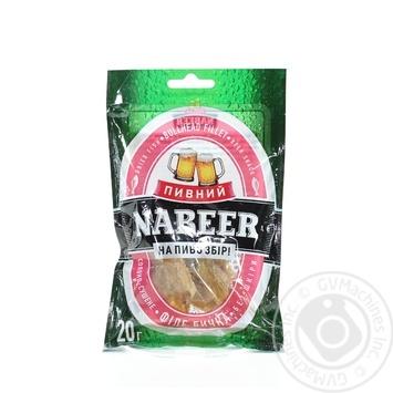Бичок Nabeer спинки б/ш солоно-сушений 20г