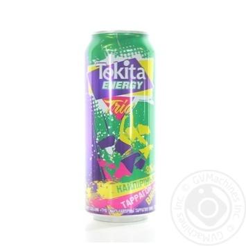 Напій слабоалкогольний Tekita Energy Trio Кайпірінья-Tаррагон-Вино 8% 0,5 з/б