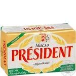 Масло Президент кислосливочное соленое 80% 200г