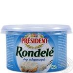 Сыр творожный Президент Ронделе 70% 125г