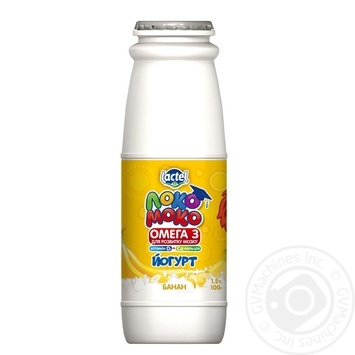 Lactel Loko Moko Banana Flavored Yogurt Enriched with Calcium, Omega-3 and Vitamin D3 1,5% 100g - buy, prices for Auchan - photo 3
