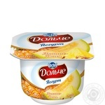 Йогурт Дольче ананас-дыня 3,2% 115г