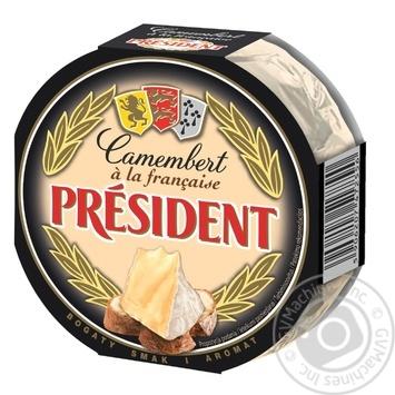 Cheese camembert President soft 170g vacuum packing
