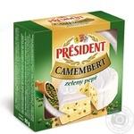 Сир President камамбер з зеленим перцем 90г