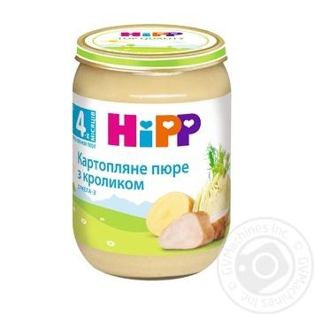 Мясо-овощное пюре Hipp Картофельное пюре с кроликом из 4-х месяцев 190г