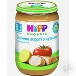 Мясо-овощное пюре Hipp Овощное ассорти с цыпленком с 8-ми месяцев 220г