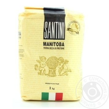 Santini Manitoba Flour from Soft Wheat 1kg - buy, prices for MegaMarket - image 1