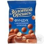 Драже Золотой Орешек молочный шоколад лесной орех 100г
