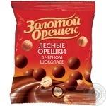 Драже Золотой орешек черный шоколад 50г
