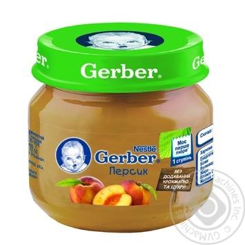Пюре Gerber персик 80г - купити, ціни на МегаМаркет - фото 1