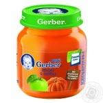 Пюре Гербер яблоко и тыква без крахмала и сахара для детей с 5 месяцев 130г