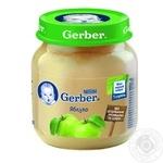 Пюре Гербер яблоко без крахмала и сахара для детей с 4 месяцев 130г