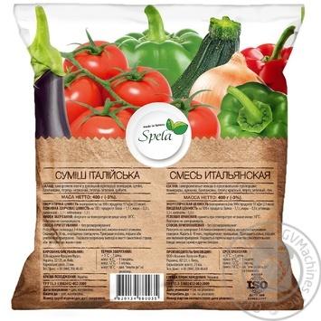 Суміш овочева Spela Італійська шокова заморозка 400г - купити, ціни на МегаМаркет - фото 2
