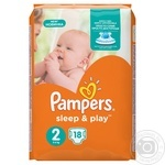 Пiдгузники дитячі Pampers Sleep & Play 2 Mini 3-6 кг 18шт