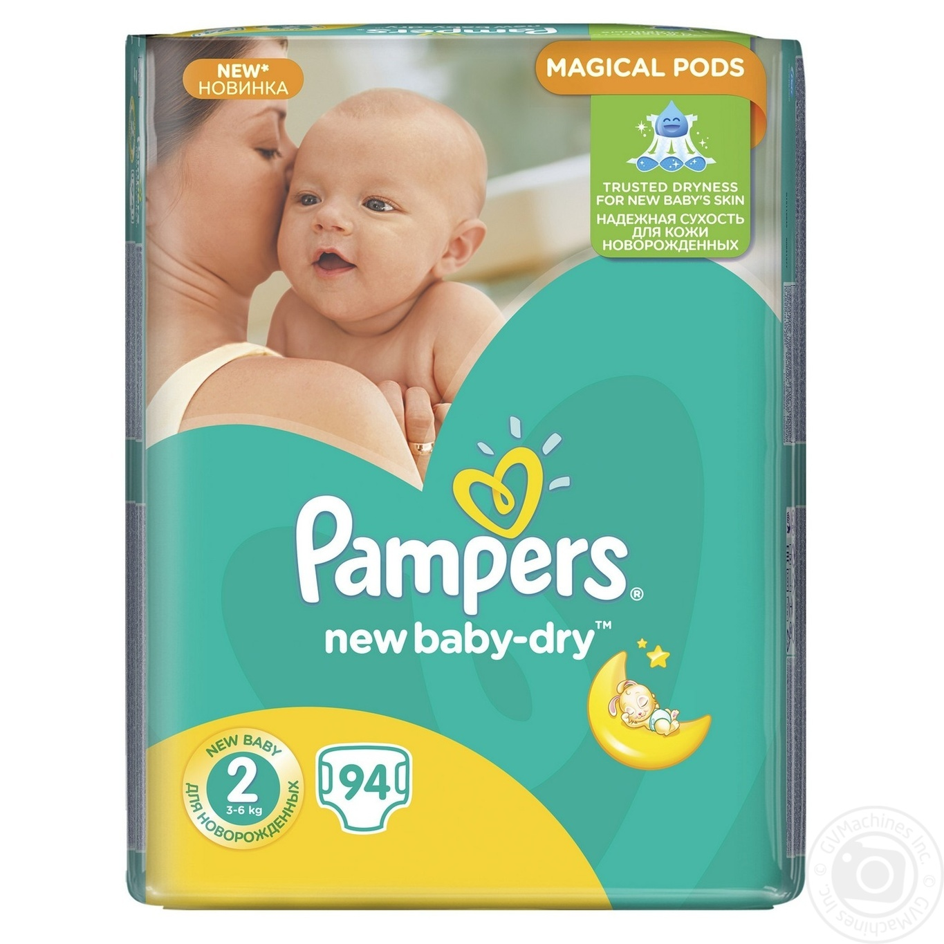 diapers pampers new baby dry 2 mini 3 6kg 94pcs babies baby care diapers. Black Bedroom Furniture Sets. Home Design Ideas