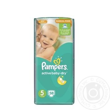c064ff23c180 Скидка на Подгузники детские Pampers Active Baby-Dry 5 Junior 11-18кг  Джамбо 58шт