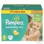Подгузники Pampers Active Baby-Dry 5 Junior 11-18кг 111шт