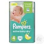 Подгузники детские Pampers Active Baby-Dry 4 Maxi 8-14кг 54шт