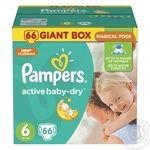 Пiдгузники дитячі Pampers Active Baby-Dry 6 Extra Large 15+ кг 66шт
