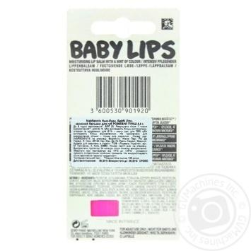 Бальзам для губ Maybelline New York Baby Lips Рожевий пунш 4,4г - купити, ціни на Восторг - фото 2