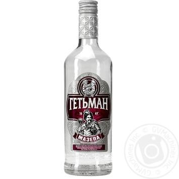 Водка Гетьман Мазепа на вересковом меду 0,5л