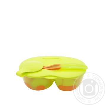Тарелка Baby Team двухсекционная с крышкой и ложкой - купить, цены на Метро - фото 2