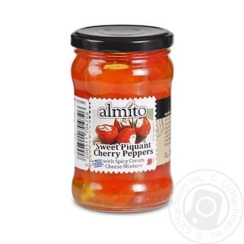 Перец Almito Сладкий пикантный Черри с начинкой из сливочного сыра 280г - купить, цены на Novus - фото 1