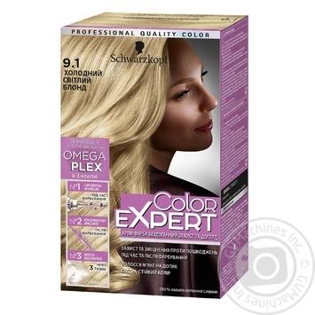Стойкая крем-краска с гиалуроновой кислотой Color Expert 9-1 Холодный Светлый Блонд 142,5мл