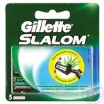 Картриджи для бритья Gillette Slalom сменные с увлажняющей лентой 5шт - купить, цены на Novus - фото 3