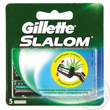 Картриджи для бритья Gillette Slalom сменные с увлажняющей лентой 5шт - купить, цены на Таврия В - фото 3