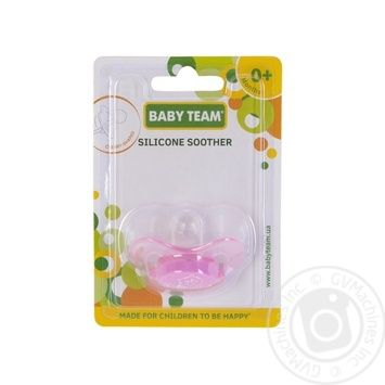 Пустышка Baby Team силиконовая вишнеподобной формы 0+ - купить, цены на Novus - фото 3