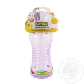 Поїльник Baby team для подорожей з трубочкою 270мл - купити, ціни на Novus - фото 3