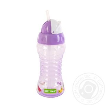 Поїльник Baby team для подорожей з трубочкою 270мл - купити, ціни на Novus - фото 2