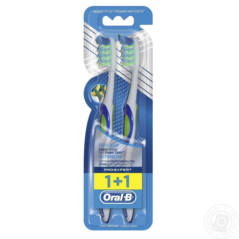 Зубна щітка Oral-B Pro-Expert Екстра Чищення середня 2шт → Гігієна ... 2c131bb0ad653