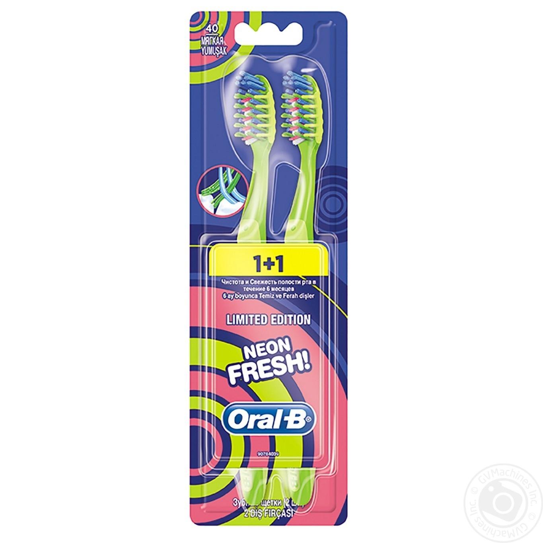 Зубна щітка Oral-B Neon Fresh м яка 2шт → Гігієна → Особиста ... 23f152e1f8fb9