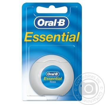 Зубная нить Oral-B Essential floss Waxed мятная 50м - купить, цены на Ашан - фото 1