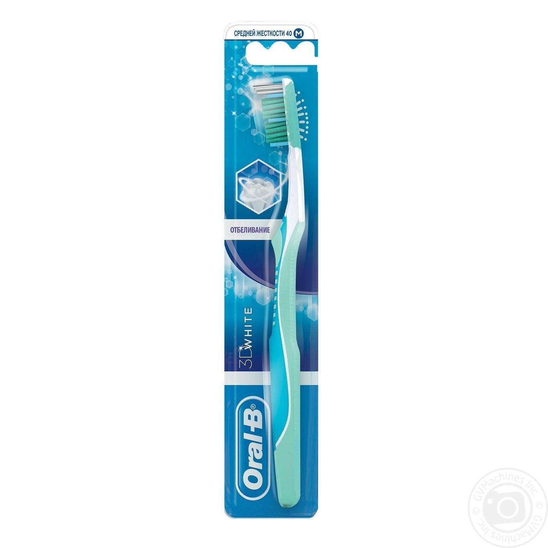 Зубна щітка Oral-B 3D White Відбілювання середня → Гігієна ... 9185767a7dd23