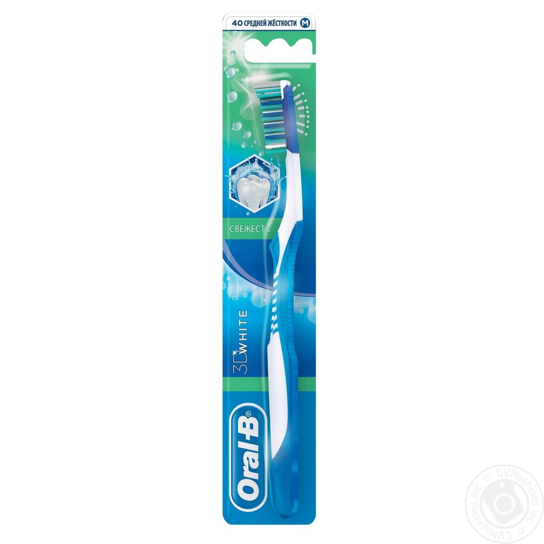 Зубна щітка Oral-B 3D White Свіжість середня → Гігієна → Особиста ... 6f3ee6e9f6fc8