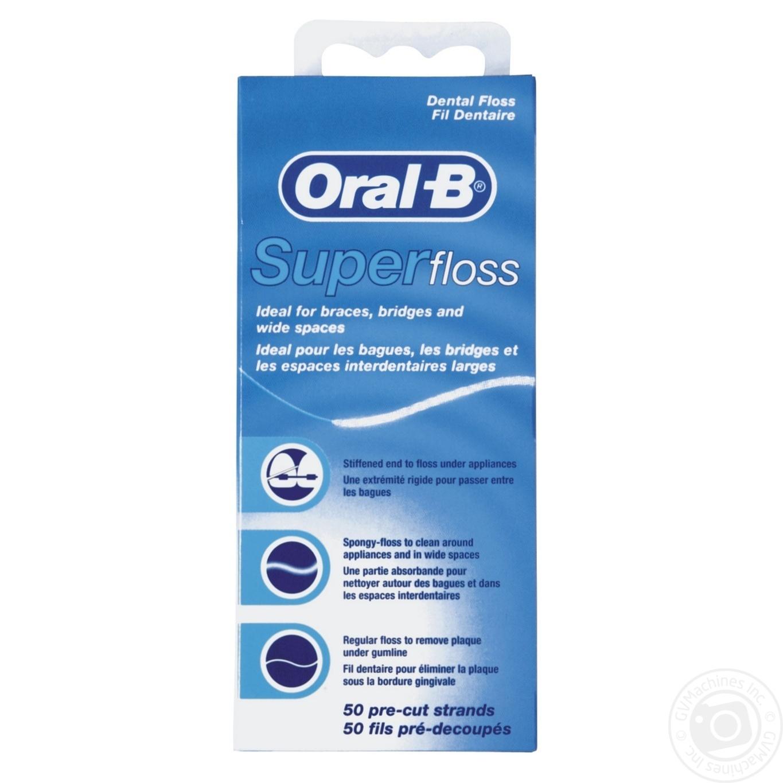 Зубна нитка Oral-B Super Floss 50м → Гігієна → Особиста гігієна ... 9ab9ce8ea0a79