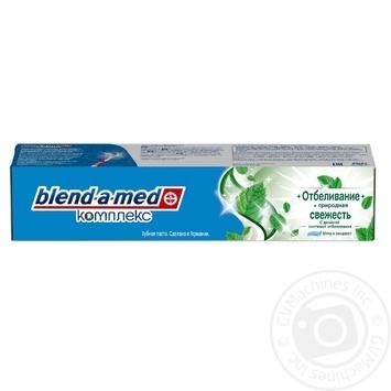 Зубная паста Blend-A-Med Комплекс Отбеливание + Природная свежесть Мята и эвкалипт 100мл - купить, цены на Ашан - фото 1