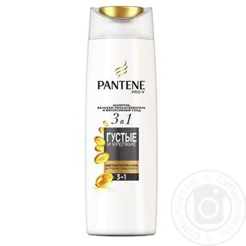Шампунь Pantene Pro-V бальзам-ополаскиватель и интенсивный уход 3в1 Pantene Pro-V Густые и Крепкие для тонких слабых волос 360мл