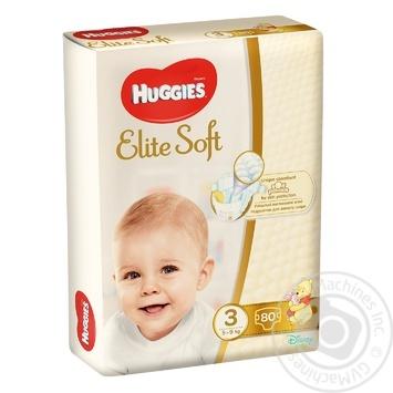 Подгузники Huggies Elit Soft (3) 80шт