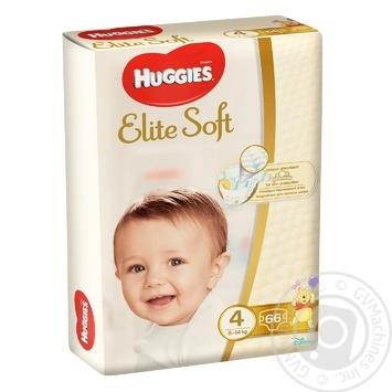 Подгузники Huggies Elite Soft 4 Mega 8-14кг 66шт - купить, цены на Метро - фото 1