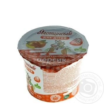 Паста творожная Яготинское для детей персик с 6 месяцев 4.2% 100г