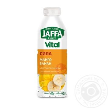 Напиток с соком Jaffa Vital Сила Манго-Банан с экстрактом женьшеня и растительными протеинами 0,5л - купить, цены на МегаМаркет - фото 1