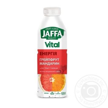 Напій з соком Jaffa Vital Енергія Грейпфрут-Мандарин з екстрактом гуарани 0,5л - купити, ціни на МегаМаркет - фото 1