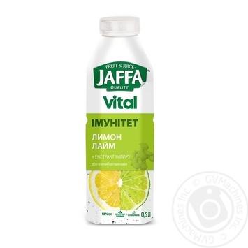 Напій з соком Jaffa Vital Імунітет Лимон-Лайм з екстрактом імбиру, збагачений вітамінами 0,5л - купити, ціни на Метро - фото 1