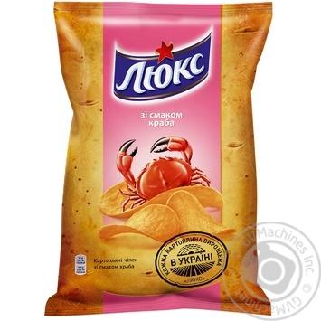 Чипсы Люкс картофельные со вкусом краба 133г